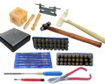Deluxe Metal Stamping Kit, Letter Stamps, Nylon Hammer, Holemaking Jig, Hammer, Doming Block etc. J1450